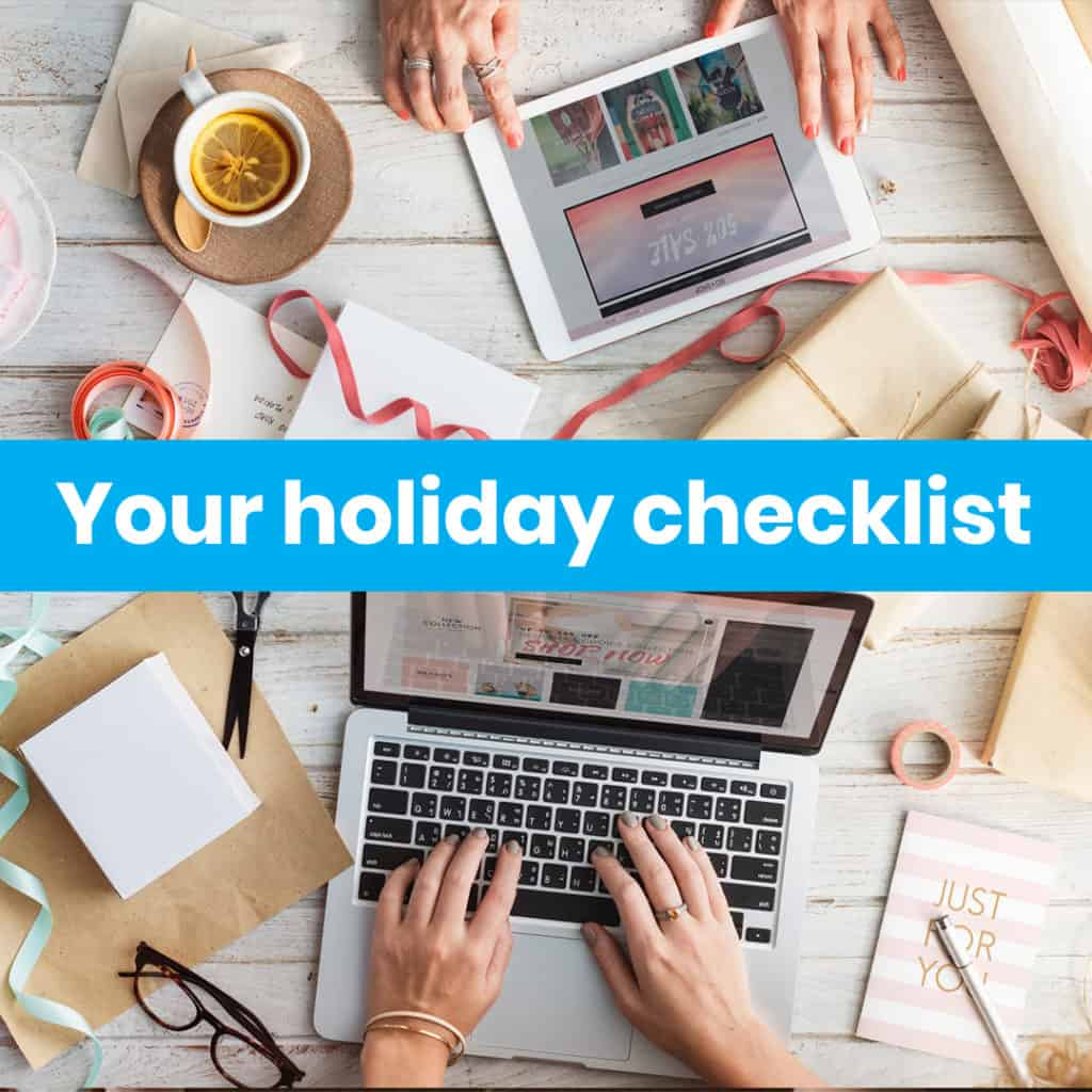 Azapi holiday checklist