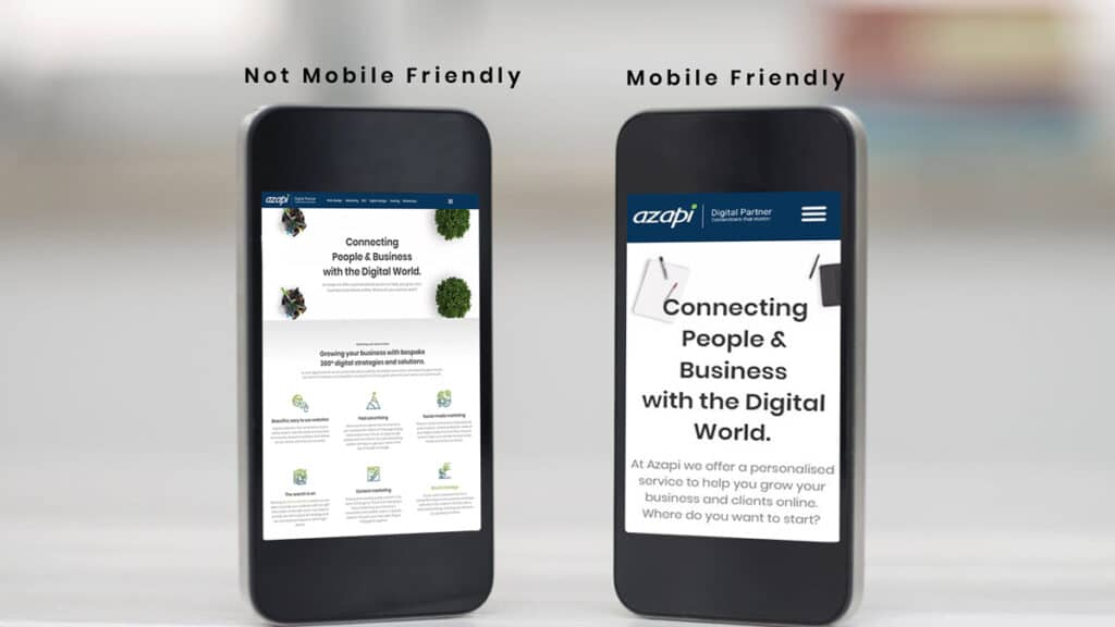 Mobile Friendly vs not mobile Friendly