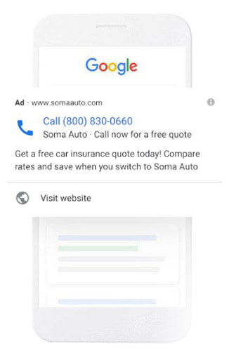 Google call ads